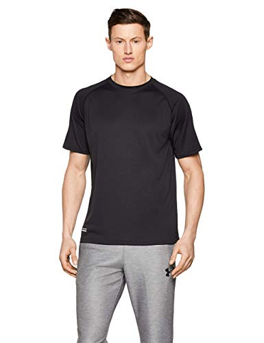 Under Armour UA Tactical Tech Camiseta Masculina, Camiseta Transpirable, Ancha Camiseta de Manga Corta Que se Seca rápidamente, Black/Clear (001), LG