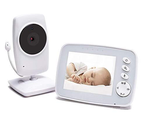 Babyphone met camera-video, infrarood nachtzichtapparaat, twee-weg feedback, kamertemperatuur, slaapliedjes, lange afstanden en krachtige batterijmonitor