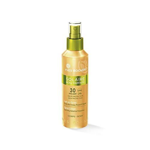 Yves Rocher SOLAIRE PEAU PARFAITE Sonnen-Milch-Spray LSF 30, Sonnenschutzspray für den Körper, 1 x Pump-Zerstäuber 150 ml