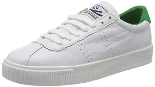 SUPERGA 2843-CLUBS COMFLEAU, Sneaker Unisex-Adulto, Bianco (White/Island Green N57), 42 EU