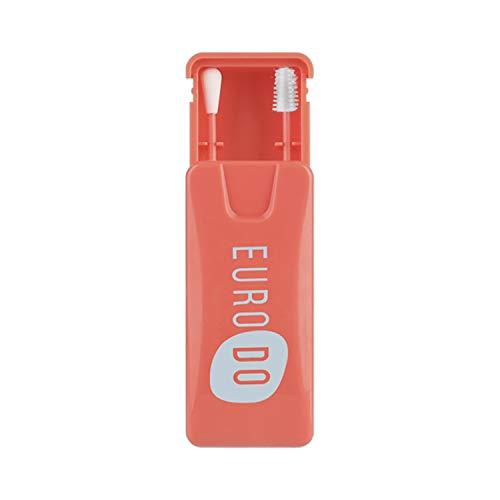 EURODO Bastoncillo Reutilizable - 1 Juego de 2 Hisopos de Silicona de Doble Cara Seguros y Ecológicos- Limpiador Oídos - Bastoncillos Desmaquillantes con Estuche (Rojo)