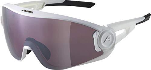 ALPINA Unisex - Erwachsene, 5W1NG Q Sportbrille, white matt, One size