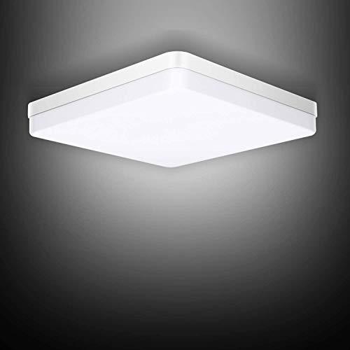 Ouyulong LED Deckenleuchte 36W 6500K 3240LM, Für Wohnzimmer,Schlafzimmer,Balkon -Super helle Deckenleuchte, Deckenleuchte Wohnzimmer Weiß 230×230×40 mm…