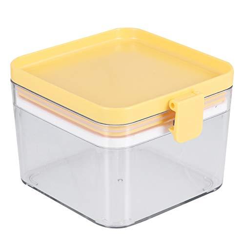 Hemoton Recipiente de Almacenamiento de Cereales Tarro de Almacenamiento de Alimentos Hermético Dispensador de Cereal de Plástico Latas Selladas Transparentes Botes de Despensa con Tapas