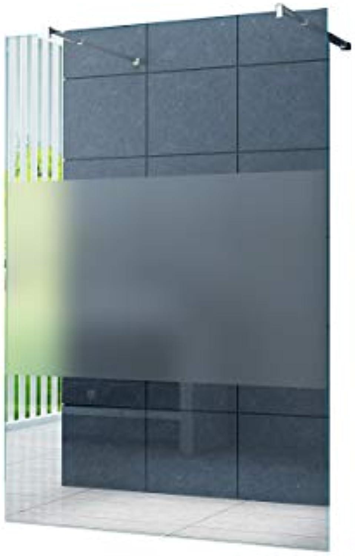 Freistehende 10 mm Duschabtrennung Düsseldorf-Cover 140 x 200 cm Walk-In Duschtrennwand Duschwand Dusche ESG Sicherheitsglas