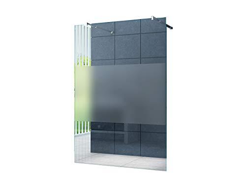 Freistehende 10 mm Duschabtrennung Düsseldorf-Cover 140 x 200 cm/Walk-In Duschtrennwand Duschwand Dusche ESG Sicherheitsglas