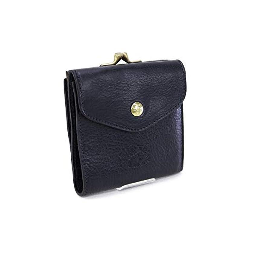 ラップハードリング批評[イルビゾンテ] 財布 レディース 折財布 ブラック (C0423 P 153 NERO) [並行輸入品]