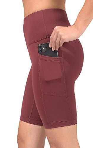 90 Degree By Reflex - Pantalones cortos Power Flex de cintura alta con bolsillos laterales - 5', 7', 9' - rojo - M