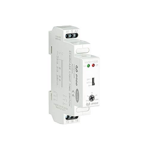 POPP Interruptor temporizador -Escalera Relé electrónico Interruptor de tiempo Interruptor Temporizador AC 220-240V Mecánica Electrodomésticos-YX3211220