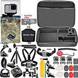 GoPro HERO7 White + 32GB Memory Card + Hard Case + Card Reader + Chest Strap Mount + Head Strap Mount + Flexible Tripod + Extendable Monopod + Floating Handle + Hero 7 Best Value Bundle