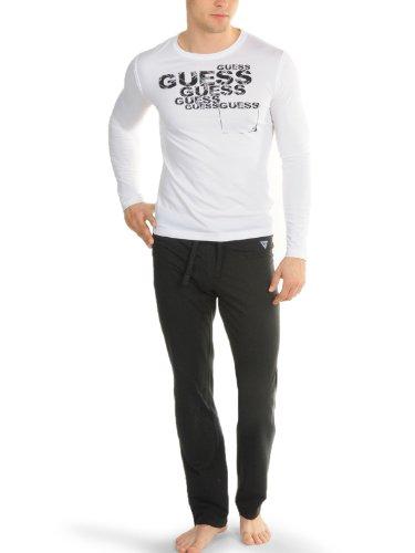 Guess - Pijama - para Hombre Negro Blanco Medium