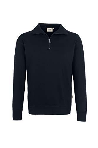 HAKRO Zip-Sweatshirt, schwarz, Größen: XS - XXXL Version: XXXL - Größe XXXL