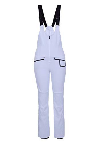 Icepeak EXIRA Softshellhose mit Trägern in weiß (Slim-fit), Gr. 42