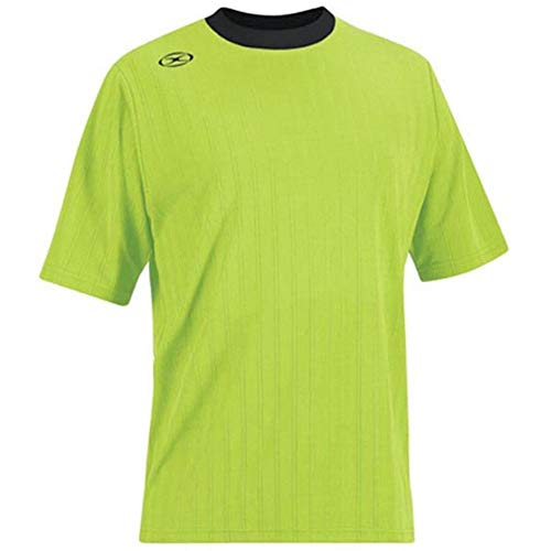 Tranmere Soccer Jersey - Adult Large, Fluorescent Green/White