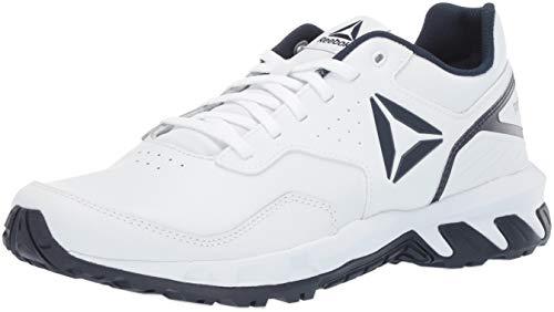 Reebok Herren Ridgerider 4.0 Leather Walking-Schuh, Weiß/Marineblau, 42.5 EU