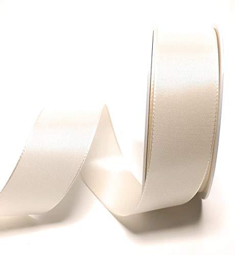Konrad Arnold Schleifenband 50m x 40mm Creme - Elfenbein Taftband Geschenkband