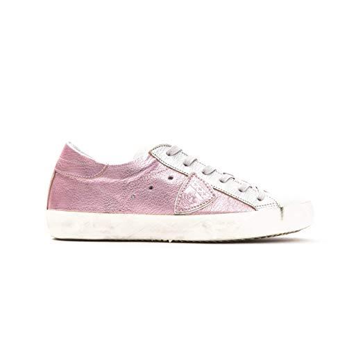 Philippe Model Sneakers Paris L DMIXAGE Metallizzata Scarpa 100% Pelle Made in Italy Donna CLLDXY31 (Rosa, Numeric_36)