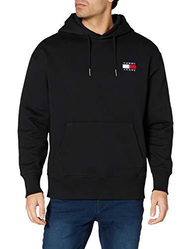 Tommy Jeans Herren Sweatshirt Tommy Badge Hoodie schwarz (15) S