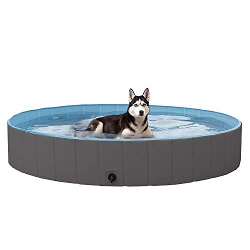 YAHEETECH Foldable Hard Plastic Large Dog Pet Bath Now $54