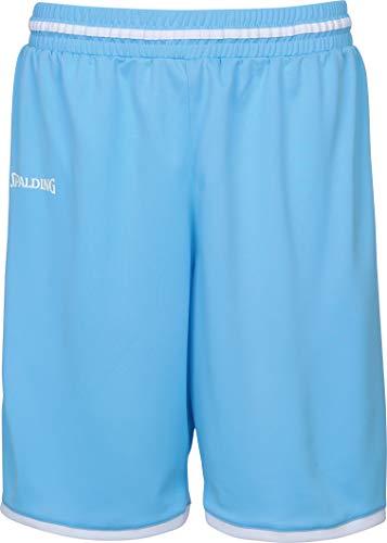 Spalding Herren Move Shorts, skyblau/Weiß, M