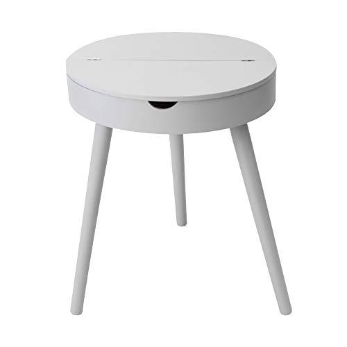 Suarez Table d'appoint en pin Gris 40 x 40 x 48,5 cm