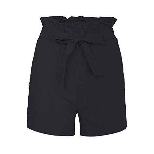 Doingshop Lässige Hosen Mode Wilde Damen Ultra Shorts Einfache Einfarbige Seide Coole Mode Sommer Hakama