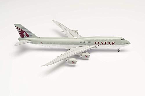 herpa 533935 Qatar Amiri Flight Boeing 747-8 BBJ in Miniatur zum Basteln Sammeln und als Geschenk