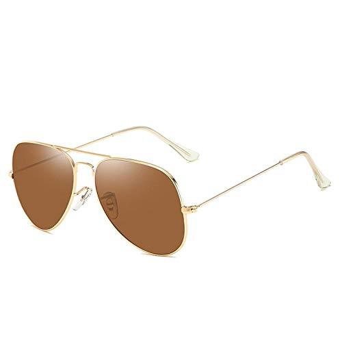 HPPSLT Estilo Vintage Redondo Gafas Sol polarizadas para Hombres y Mujeres, Gafas de Sol de Cristal Metalizado para Hombres y Mujeres.-6 6