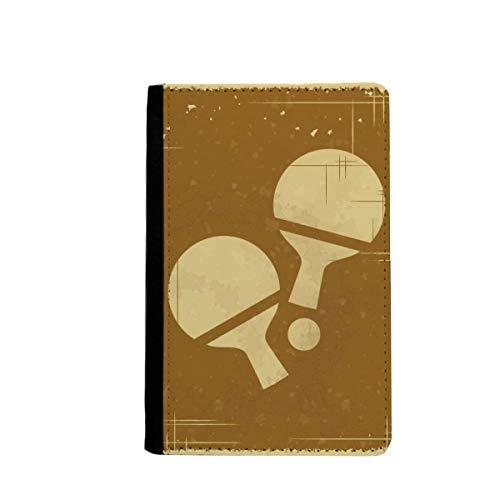 beatChong Tischtennis Sport Illustration Muster-Pass-Halter Travel Wallet Abdeckungs-Fall Karten-Geldbeutel