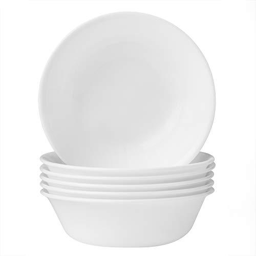 Corelle Soup Cereal Bowls Set (18-Ounce, 6-Piece, Winter Frost White)