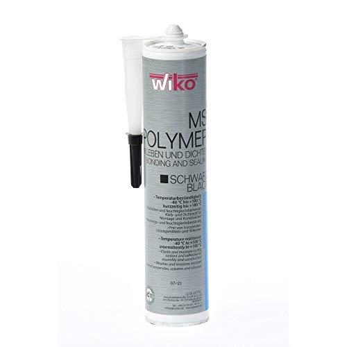 acerto 40228 WIKO MS POLYMER elastischer Klebstoff 290 ml schwarz Temperaturbeständig -40°C bis +100°C
