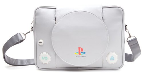 Bioworld Playstation Console Shaped Messenger Bag, Grey, 40 cm
