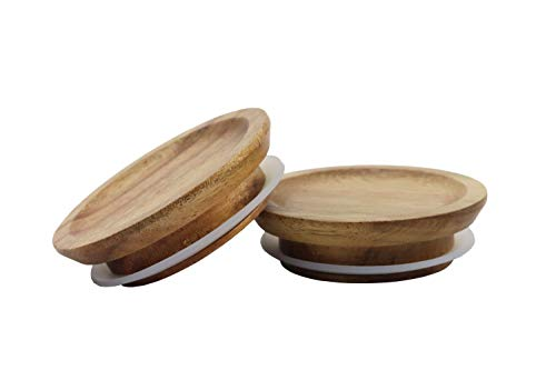 Acacia Wooden Lid for Weck and/or Oui Jars, Single, (1 Piece)
