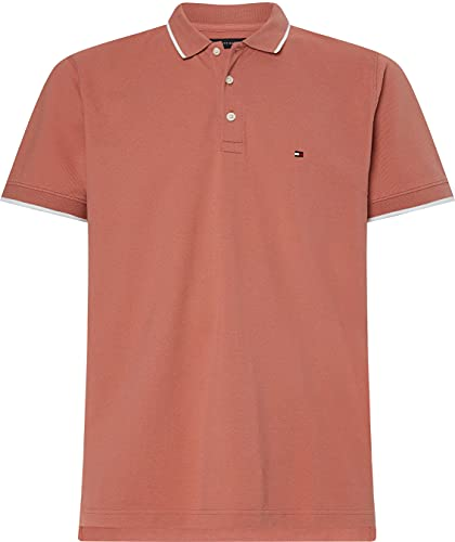 Tommy Hilfiger Basic Tipped Regular Polo, Mineralizzare, L Uomo