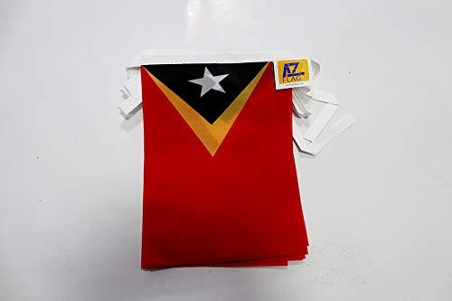 AZ FLAG Guirnalda 12metros 20banderas 45x 30cm–Timor Oriental Bandera timorais 30x 45cm