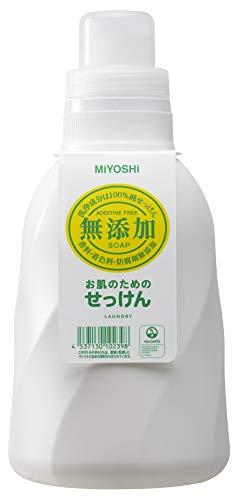 ミヨシ石鹸無添加お肌のための洗濯用 液体せっけんボトル 1.1L 1個 ミヨシ石鹸