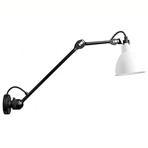 Lange Arm Wandbeleuchtung Faltbare Wandleuchte Einstellbare Schlafzimmer E27 Innen Wandlampen Nachttischlampe Teleskop Wandleuchte Antik Industrie Leselampe mit 1.8m Netzschalter und Stecker,Weiß