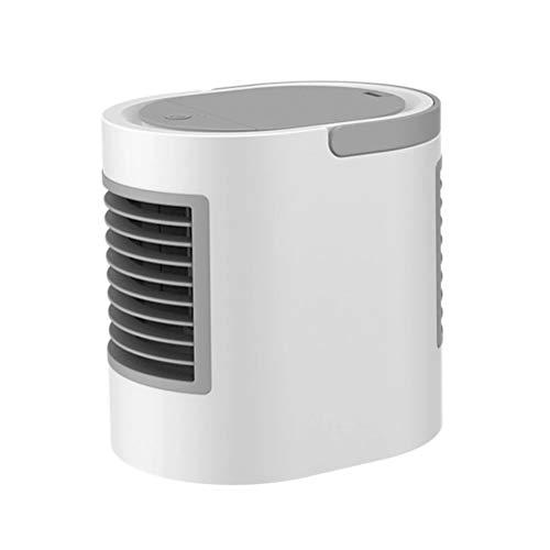 LHZHG Aire Acondicionado Portátil Enfriador, 3-en-1 Mini Enfriador Humidificador Purificador de Aire Portátil USB Aire Acondicionado para Casa/Oficina/Camper (Color : Gray)