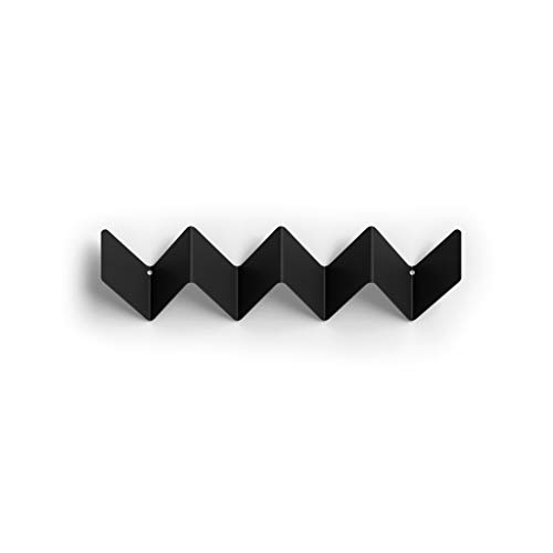 Peppermint Products Zigzag Roman Luyken - Perchero de pared pequeño, color grafito