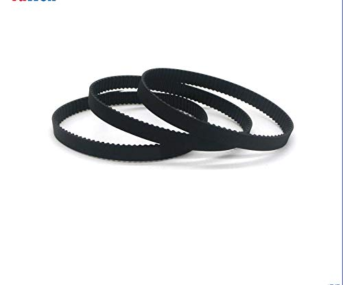 X-BAOFU, 1pc 2GT Timing Belt Rubber 6/10mm Width Toothed Belts 2GT-188/190/192/194/200/202/204/208/214/220/228 Closed Loop Gear Pulley Belt (Color : 2GT 204, Size : 6mm)