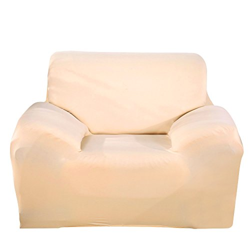 Housse de fauteuil 1 place Paracity - Tissu protecteur extensible, beige, 1 seater:90-140cm