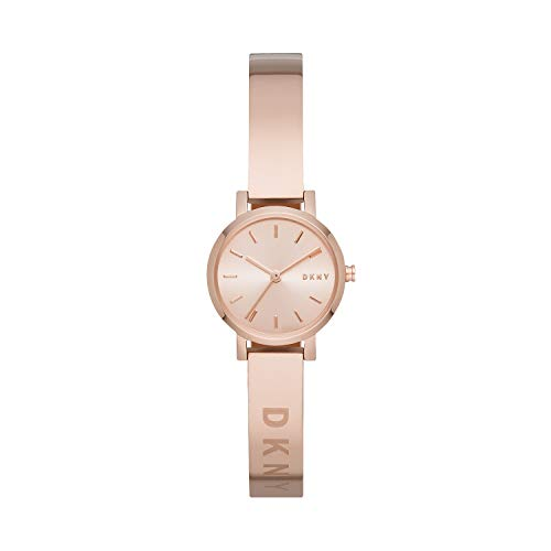 DKNY Women's Soho Slim Quartz Stainless Steel Three-Hand Watch, Color: Rose Gold (Model: NY2308)