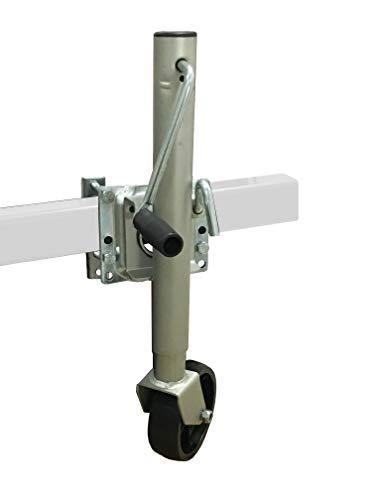 MAXXHAUL 70148 10' Lift Swing Back Trailer Jack with Single Wheel-1000 lbs. Capacity