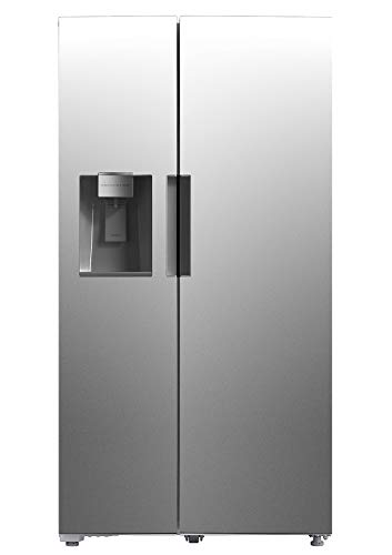 Smad 36' Side by Side Refrigerator with Automatic Ice Maker and Water Dispenser, Stainless Steel, 26.3 Cu.Ft.