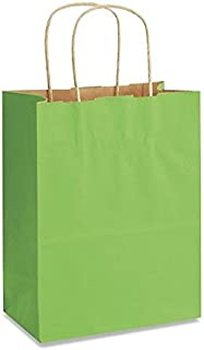USA-Made Medium Kraft Paper Gift Wrap Bags (8