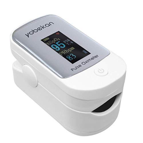 Onmedics Pulso de Dedo - Oxímetro Pulsómetro Digital con Pantalla Led - Medidor de Oxígeno en Sangre