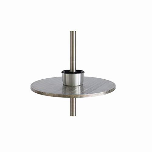 LOFAMI Edelstahl Heizpilz Tisch mit Aschenbecher, Silber Tisch Heizstrahler (Durchmesser 60cm / 23.6inch)