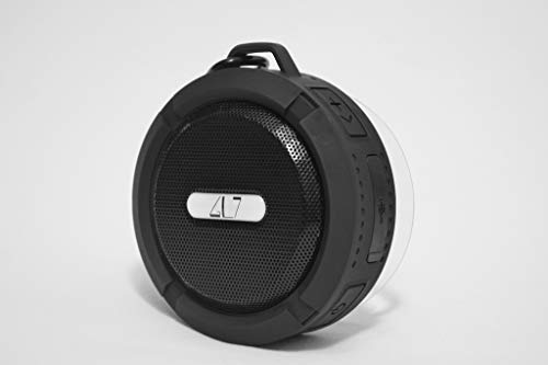 Black Bluetooth Wireless Portable Speaker Built in Mic IPX5 Waterproof |Shower Hiking Biking Travel Beach Cycling Bicycle| Hands Free Outdoors | GL7