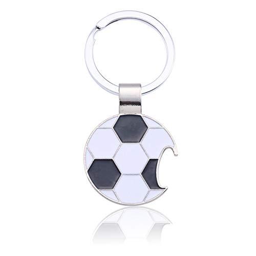 TUDUDU Sportlicher Fußball Keychain Fußball-Schlüsselketten-Silbernes Metallschlüsselketten-Schmucksache-Unisexgeschenk-Tropfen-Verschiffen