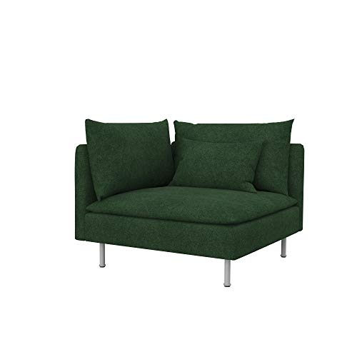 Soferia Funda de Repuesto para IKEA SÖDERHAMN módulo de Esquina, Tela Strong Green, Verde